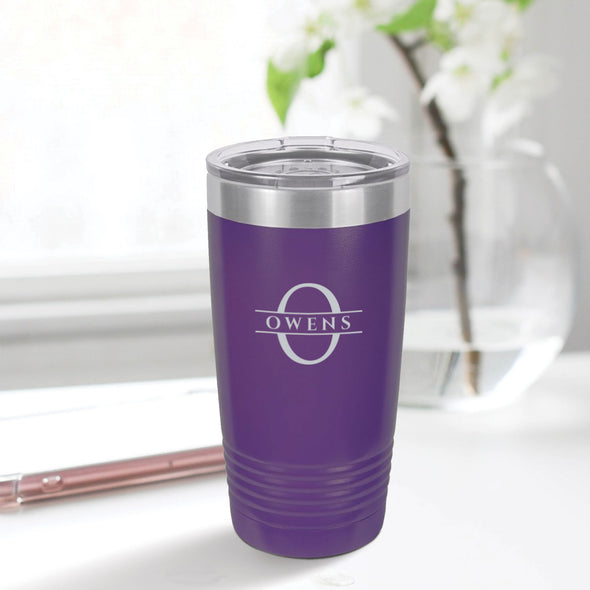 custom engraved 20 oz. tumbler best sellers custom gift purple with clear lid closing gift