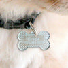 Custom Engraved Dog Tag Bone Shape Acrylic Closing Gift