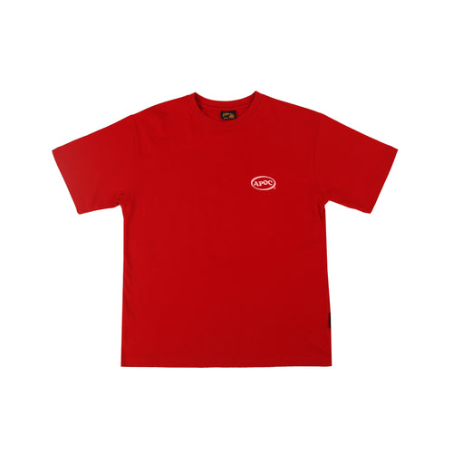 Oval Logo 12 T-shirts_Red