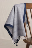 Khadi Hand Towel - Chambray