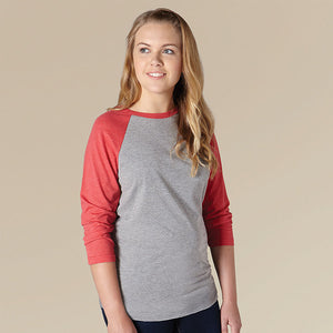 Wildlife Women Baseball T Heather Grey/Black