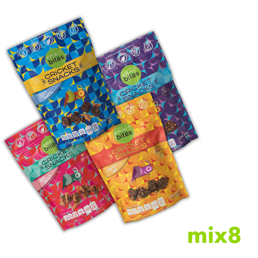 MIX 8 Cricket Snacks - Bites Surtidos