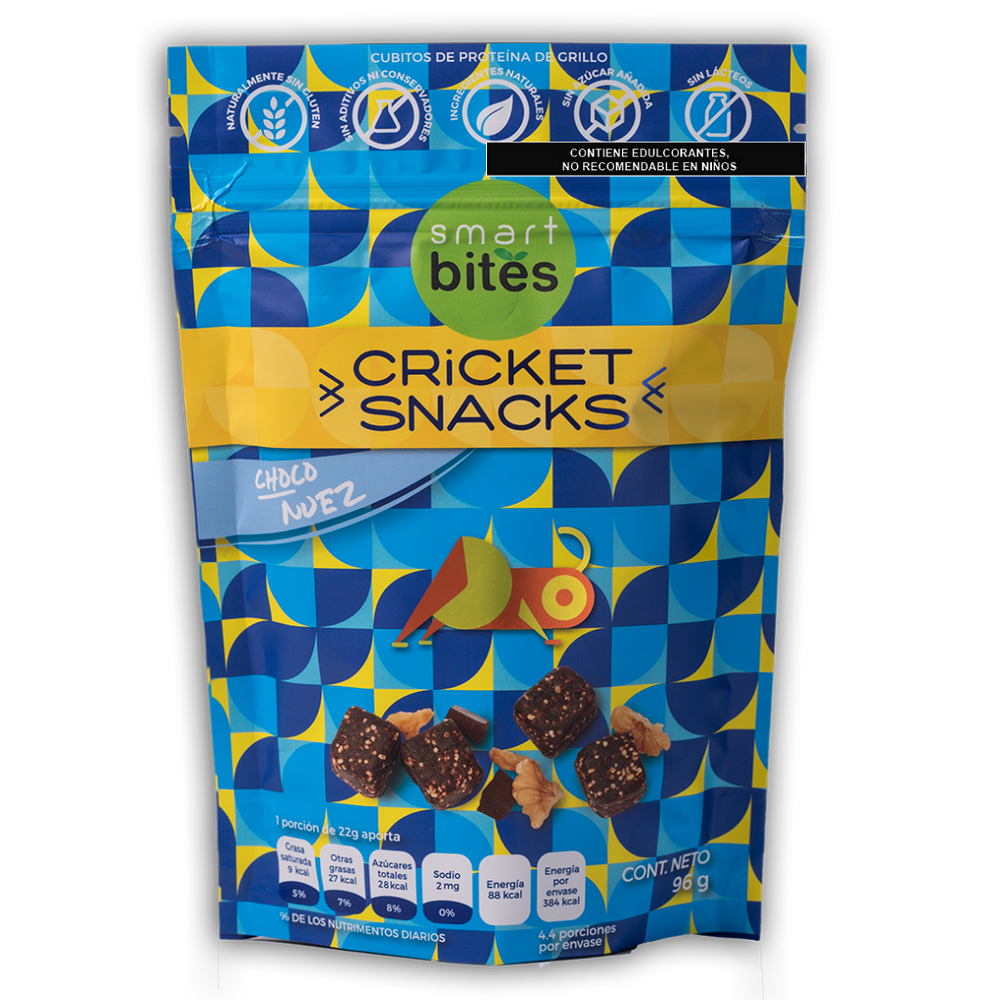 Smart Bites Cricket Snacks - Choco Nuez