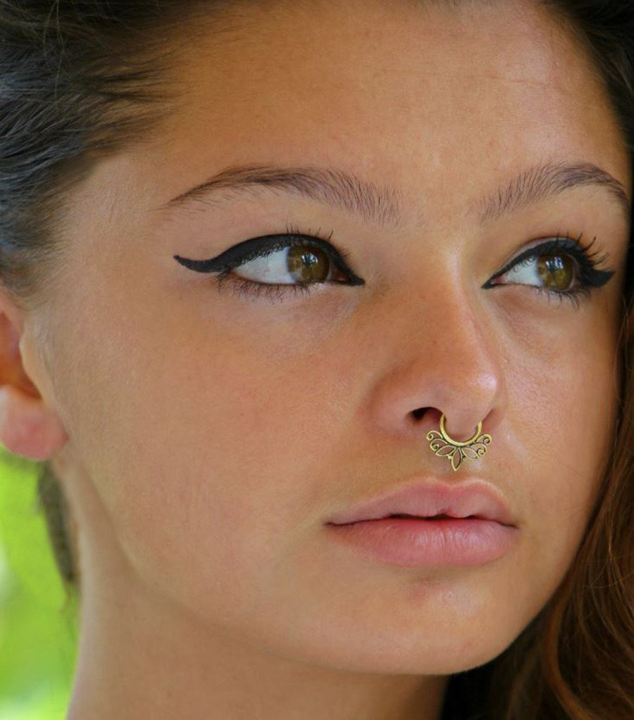 Brass Tribal Fake Septum Ring