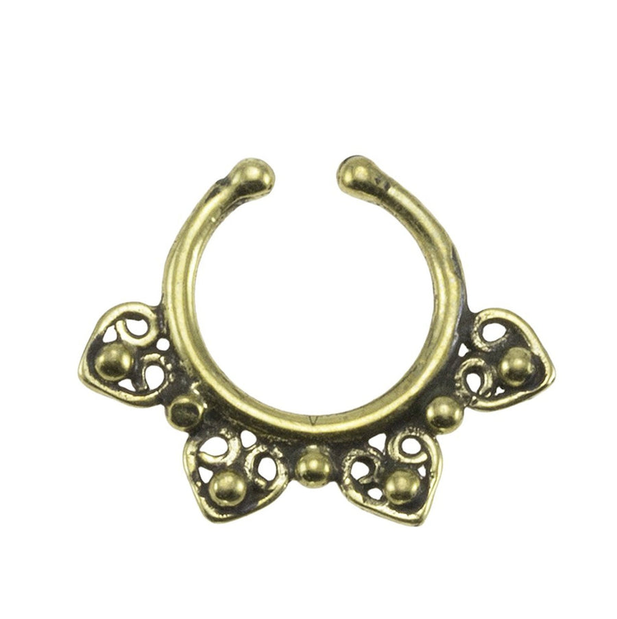 Hearts Swirl Fake Septum Ring