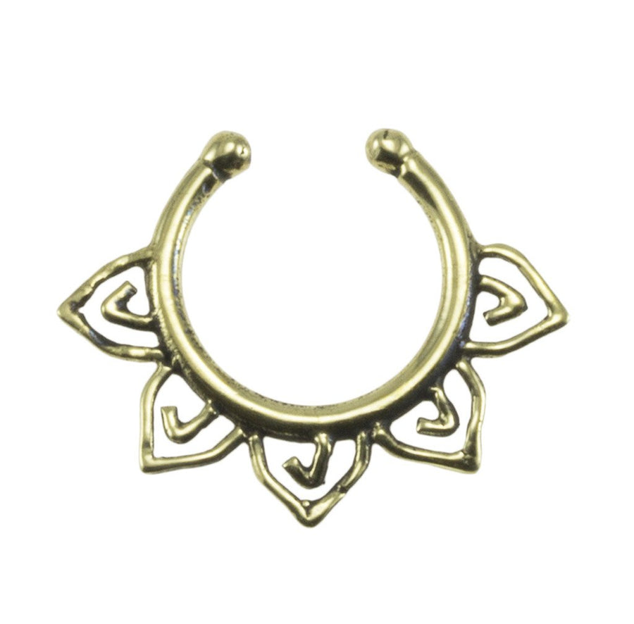 Brass Fake Septum Ring