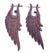 Natural Wood Tribal Wing Earrings