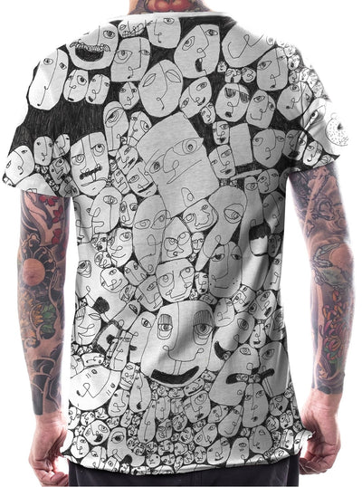 full print psychedelic t-shirt for men