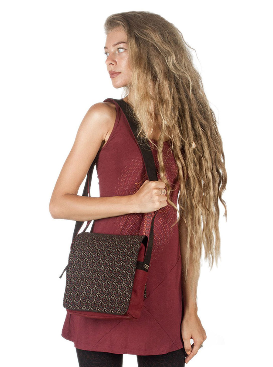 Cubics Geometric Cross body Bag