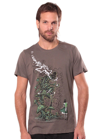 grey rave festival print t-shirt men