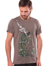 grey psychedelic print t-shirt men