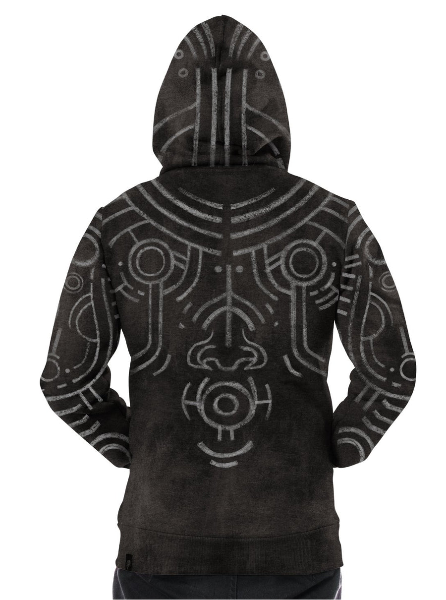 Plazmalab War Paint  All Over Aztec Hoodie