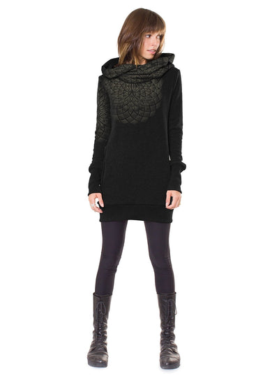 Plazmalab Lotus Flower Dots Hoodie Dress