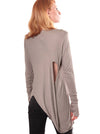 grey Long sleeve Top women