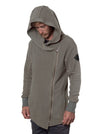 Hooded Jacket Asymmetrical Side Zip