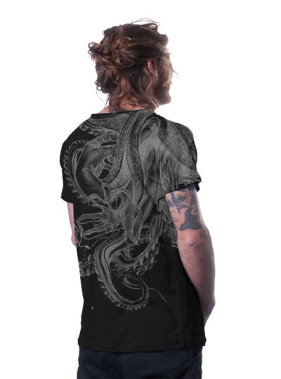 Plazmalab David vs Kraken Octopus Cotton T-shirt