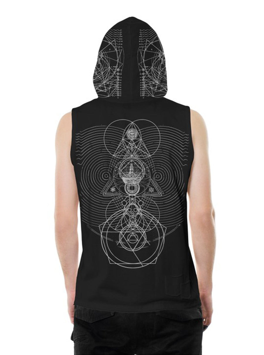 Plazmalab Illuminati Sleeveless Hoodie Tank Top