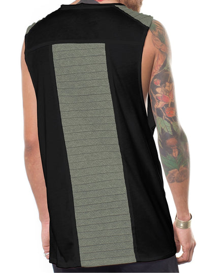 Nervir Pleated Stitch Tank Top