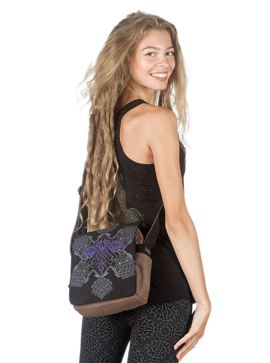 Om Key Sacred Geometric Cross body Bag