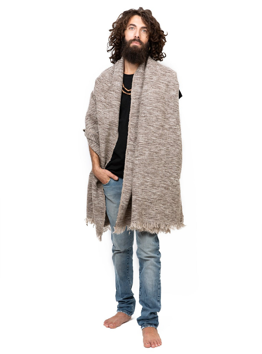 Unisex Woolen Shawl Extra Large Scarf with Fringes