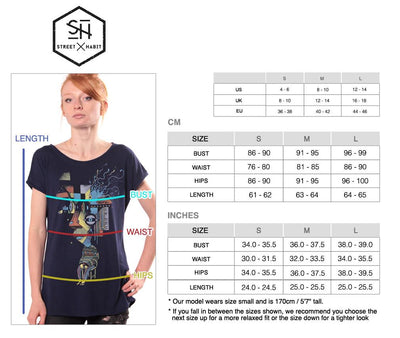 t-shirt women size table