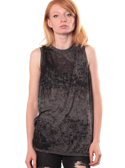 Plazmalab V-173 Wrap Back Acid Wash Top