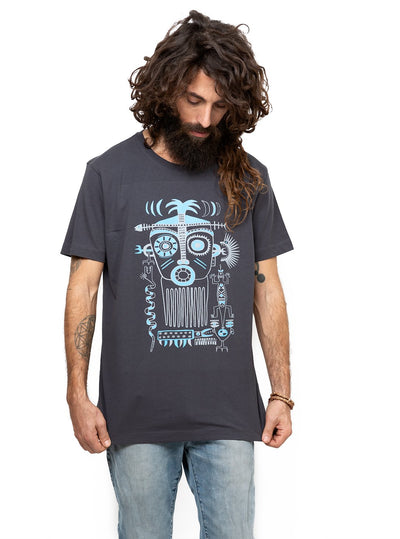 Ancient Aztec Story Art Tribal Mask Top