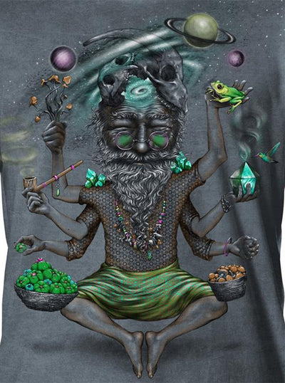 Plazmalab Mystical Old Man T-Shirt Colorful Psychedelic Print
