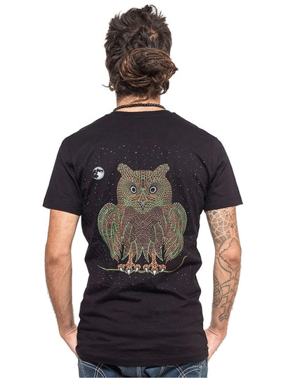 Psychedelic T-Shirt Owl Bird Hypnotic Top
