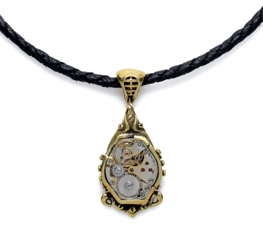 Drop Brass Steampunk Necklace