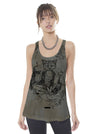 Long Cami Tank Top Mystical Fox Woman on Storm