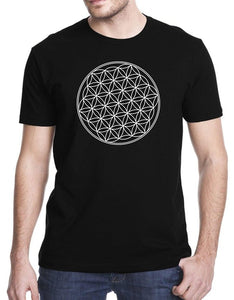New fashion women men Hip Hop 3d Print Flower Of Life Sacred Geometry Letter Printed T shirt Short Sleeve Tshirt Fashion
