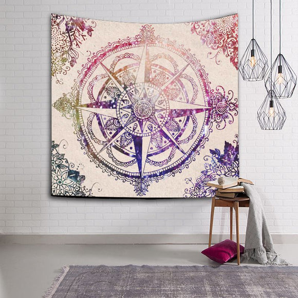 229cmx150cm Polyester Indian Mandala Wall Hanging Tapestry Bohemian Bedspread Throw Blanket Dorm Yoga Mat Home Room Decoration