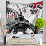 Eiffel Tower Indian Mandala Tapestry Hippie Wall Hanging Tapestries Boho Bedspread Beach Towel Yoga Mat Blanket Table Cloth