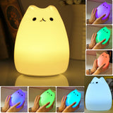 Fashionable cute colourful nightlight USB Silicone Cat LED Night Lighting Reading Lamps Table Lamps For Home Decor IY303122