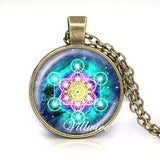 Metatron Cube Pendant Necklace Sacred Geometry Flower of Life Jewelry Chakra Spiritual Necklace Women Men Magic Hexagram Choker