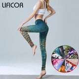Women Yoga Pants Slim Fitness Leggings Running Sport Pants For Female Printed Gym Yoga Bottoms Leggings Sportswear