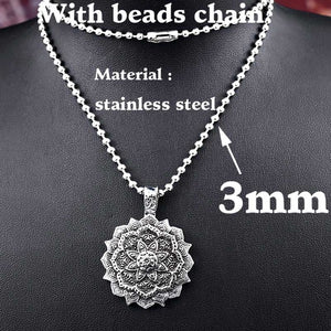 Beier 316L stainless steel Tibet Spiritual Necklace Tibet Mandala pendant Necklace geometry amulet Religious jewelry BP8-310