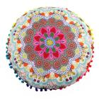 Hippie Mandala Rund Cushion Cover Pompom Bohemian Tassel Paisley Throw Pillow Cover Meditation Cushion Decorative Pillows u70626