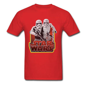 Star Wars Tees New Fashion Tops & Tees Stormtroopers Fight T-Shirt Summer Hip Hop T Shirt Hot Trendy Short Sleeve Clothing