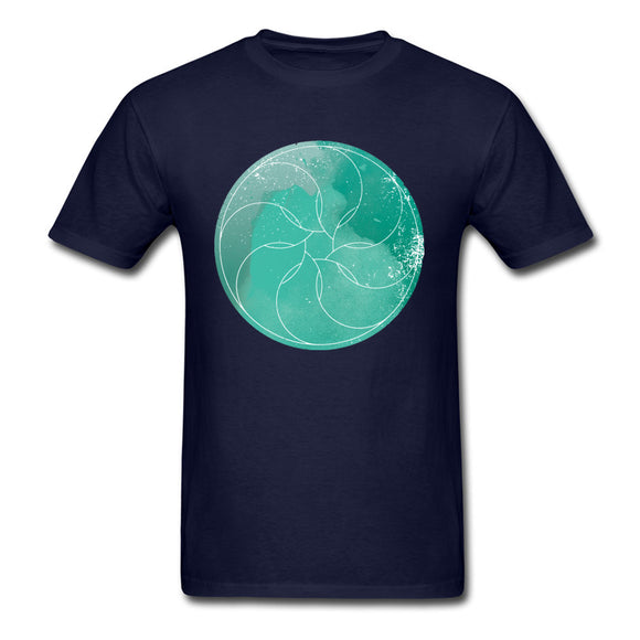 O-Neck Sacred Geometry Watercolor No7 100% Cotton Men's T Shirt Normal Short Sleeve Tees Rife Design Tee Shirt