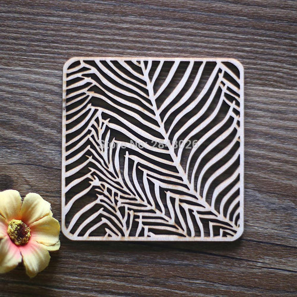 Laser Cut Wood Coaster Ornaments . Unfinished Wood Tags .Rustic Ornaments,Wood Coasters Cup Mat Placemats