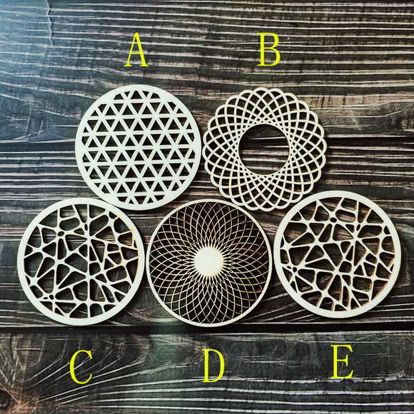 5pcs Laser Cut Wood Gorgeous Coaster Set Drink Coasters Wedding Return Gift Housewarming New Home Birthday Gift