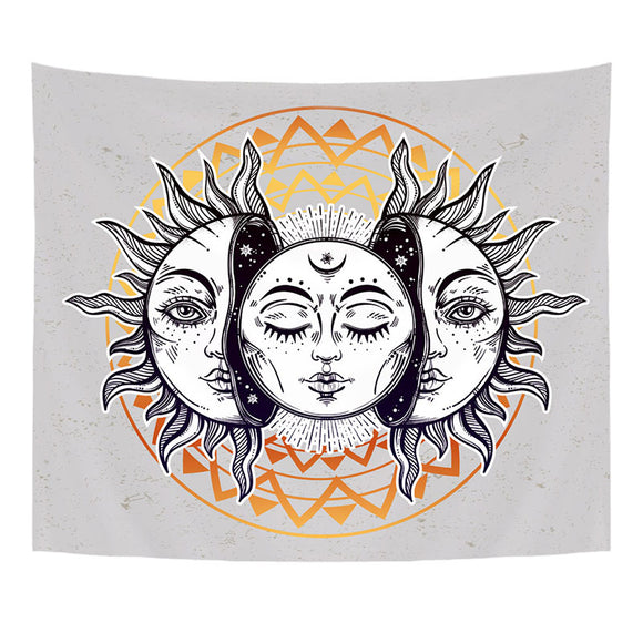 Comwarm Indian Mandala Style Tapestry Short Plush High Quality Wall Hanging Sun Printed Beach Towel Decorative Livingroom boheme