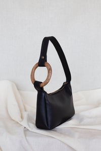 VEGAN BLACK Hobo Bag