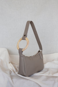 VEGAN TAUPE Hobo Bag