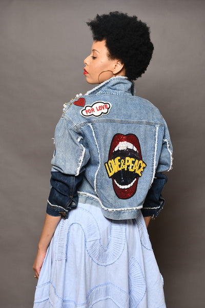 Ragdolls Couture embellished denim jacket