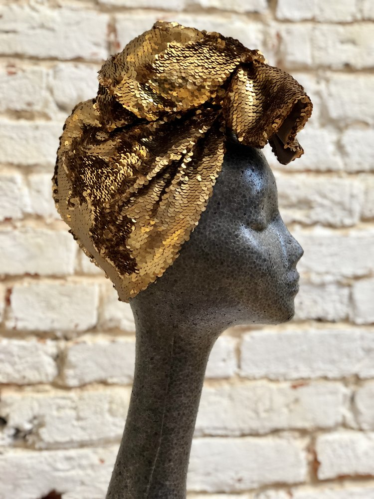 Custom Sequin Turban