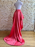 Salmon Tiered Satin Frock
