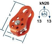 Fixed Side Pulley with Aluminum Sheave, Arborist's Gear - Landscape Tools garden arborists